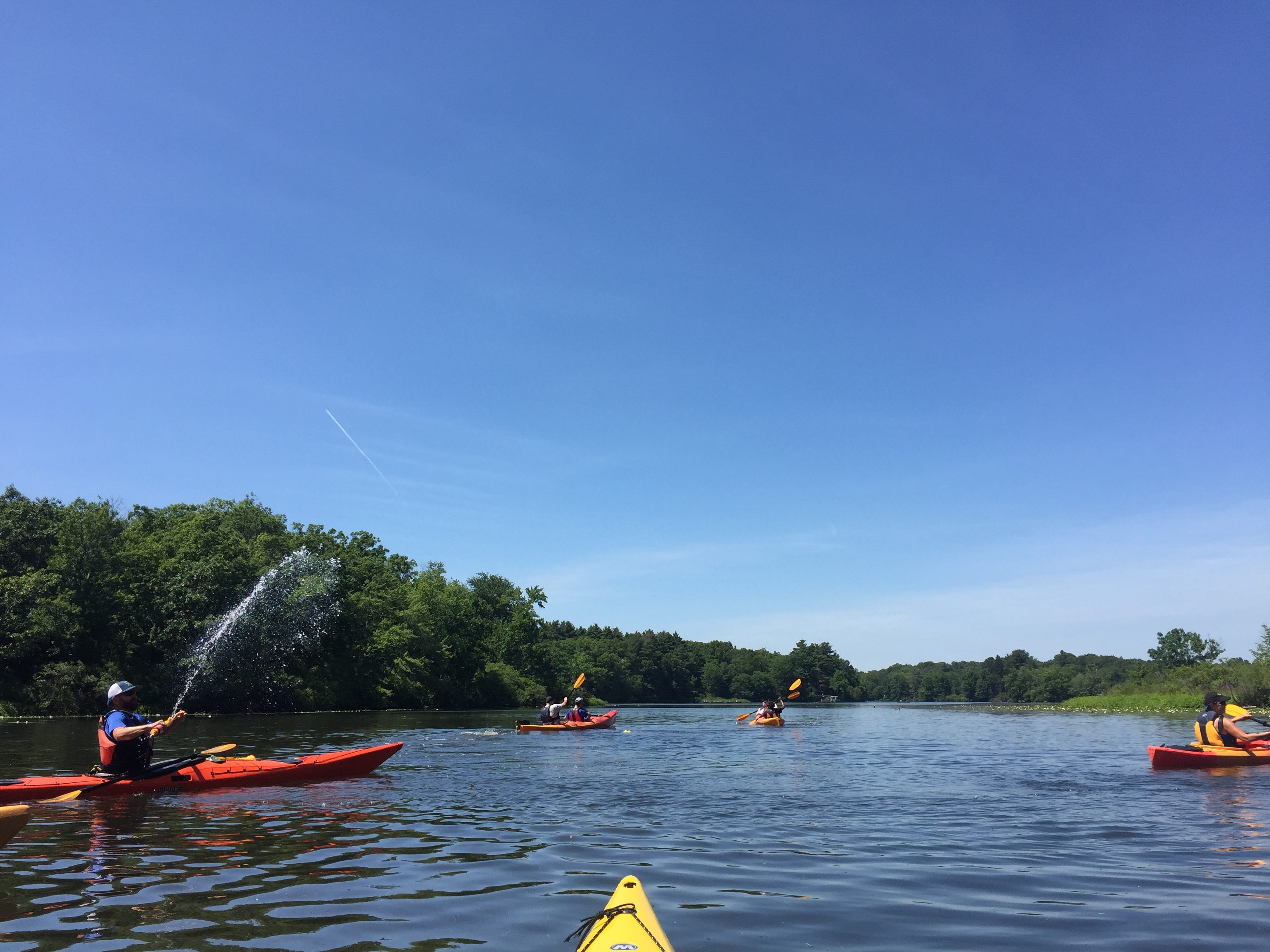 Kayaking with Sharon Collaborative and Boston University