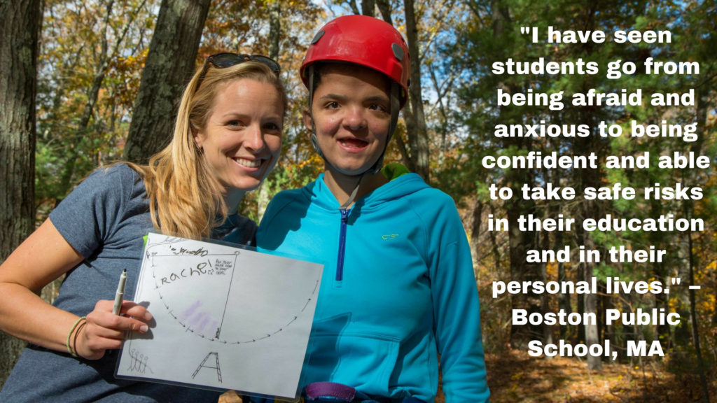 • I have seen students go from being afraid and anxious to being confident and able to take safe risks in their education and in their personal lives. – Boston Public School, MA