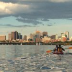 Kayaking in Boston harbor