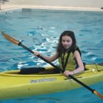A girl kayaking