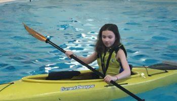 A girl kayaking
